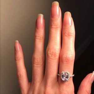 💍Beautiful ring radiant cut stainless steel